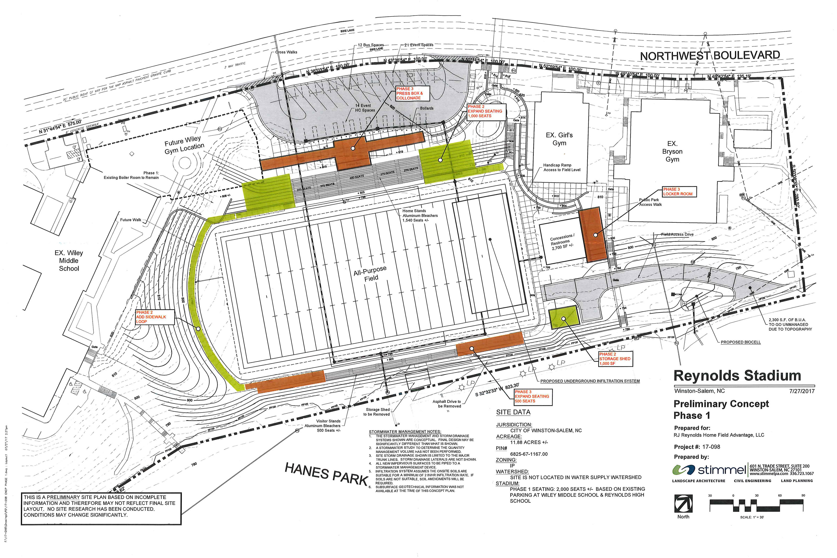 R.J. Reynolds stadium plan